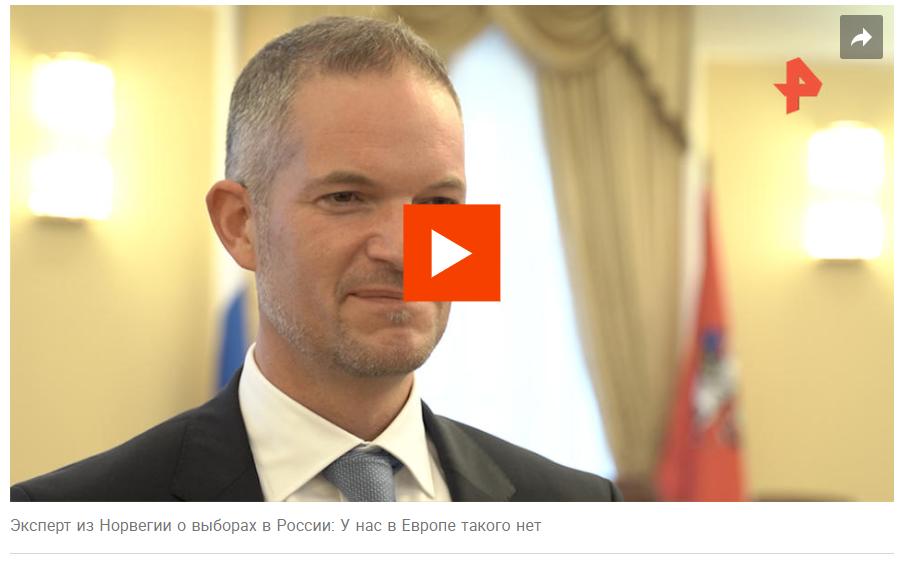 """På russisk TV kalles Weber """"ekspert fra Norge""""."""